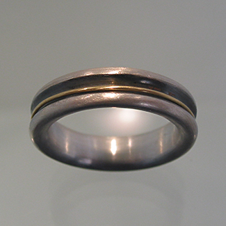 Ring: Silber, Gold
